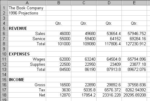 figure 11 spreadsheet software